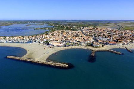 parc naturel regional de Camargue, Les Saintes Maries de la Mer, plage des Arenes