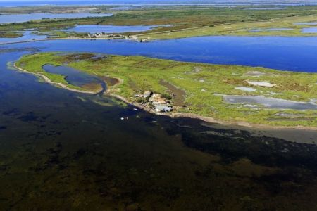 parc naturel regional de Camargue, Port Saint Louis du Rhone, They du Pegoulier, hameau les Cabanes du Levant, route de Napoleon