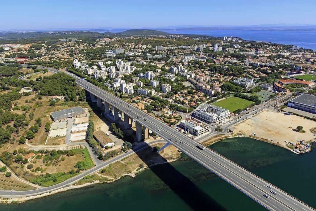 Martigues, chenal de Caronte, Viaduc de Martigues
