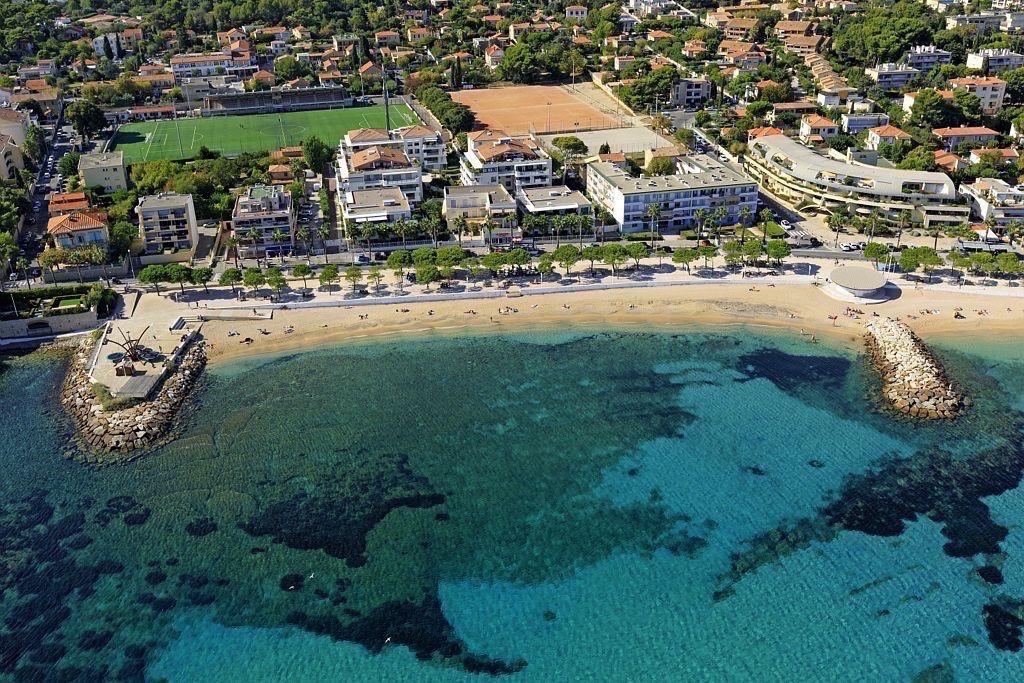La Ciotat, plage Cymos (vue aerienne)