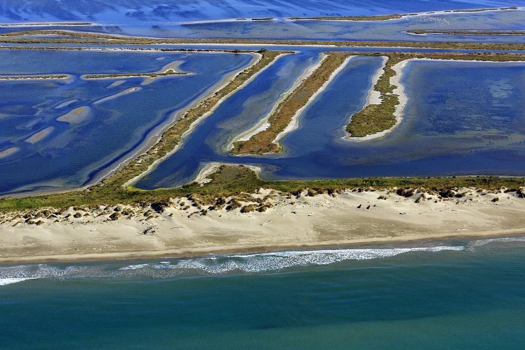 Parc Naturel Regional de Camargue, Arles, Salin de Giraud, plage de Piemanson, La Paulet