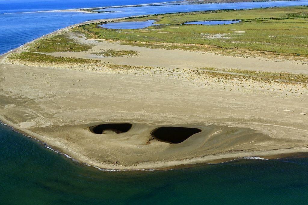 parc naturel regional de Camargue, Port Saint Louis du Rhone, embouchure du Rhone, plage Napoleon