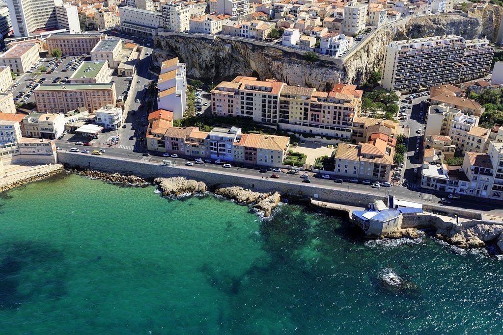 Marseille, 7e arrondissement, quartier d'Endoume, Corniche JF Kennedy