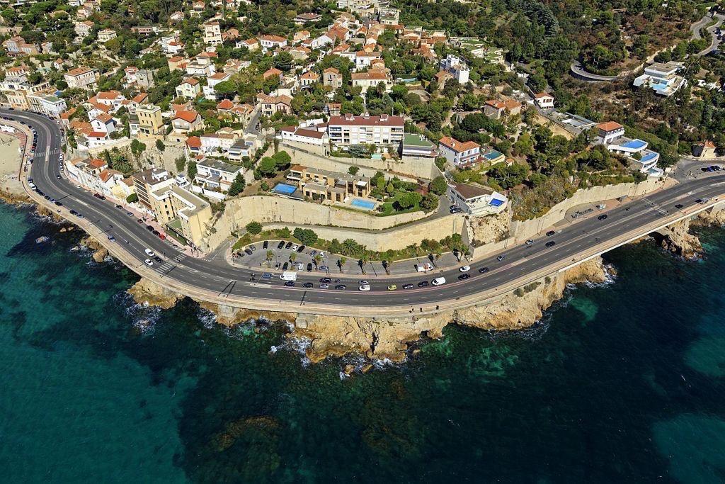 Marseille, 7e arrondissement, quartier Roucas Blanc, Rade d'Endoume, Pointe du Roucas Blanc, Corniche JF Kennedy