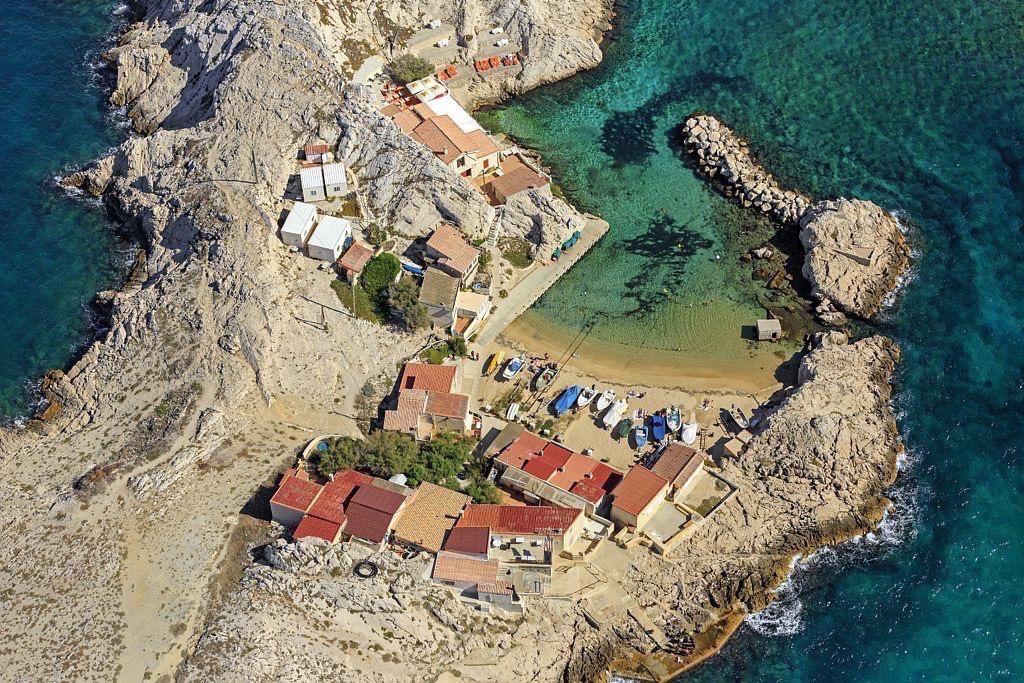 Parc national des Calanques, Marseille, 8e arrondissement, quartier Les Goudes, Cap Croisette, baie des Singes