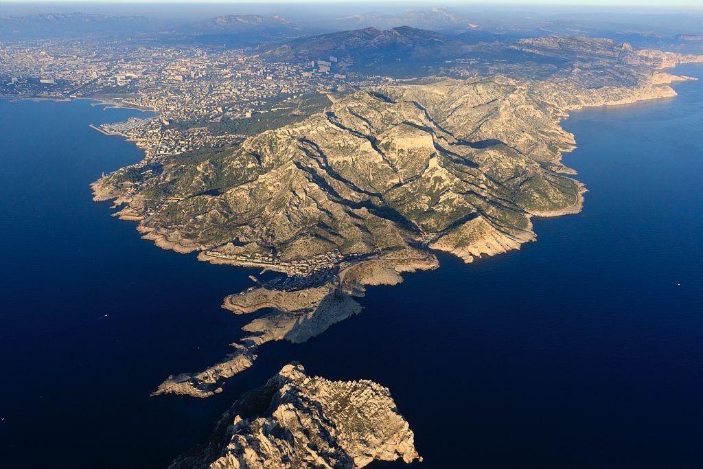Parc national des Calanques, Marseille, Cap Croisette, la baie des Singes, l'ile Maire