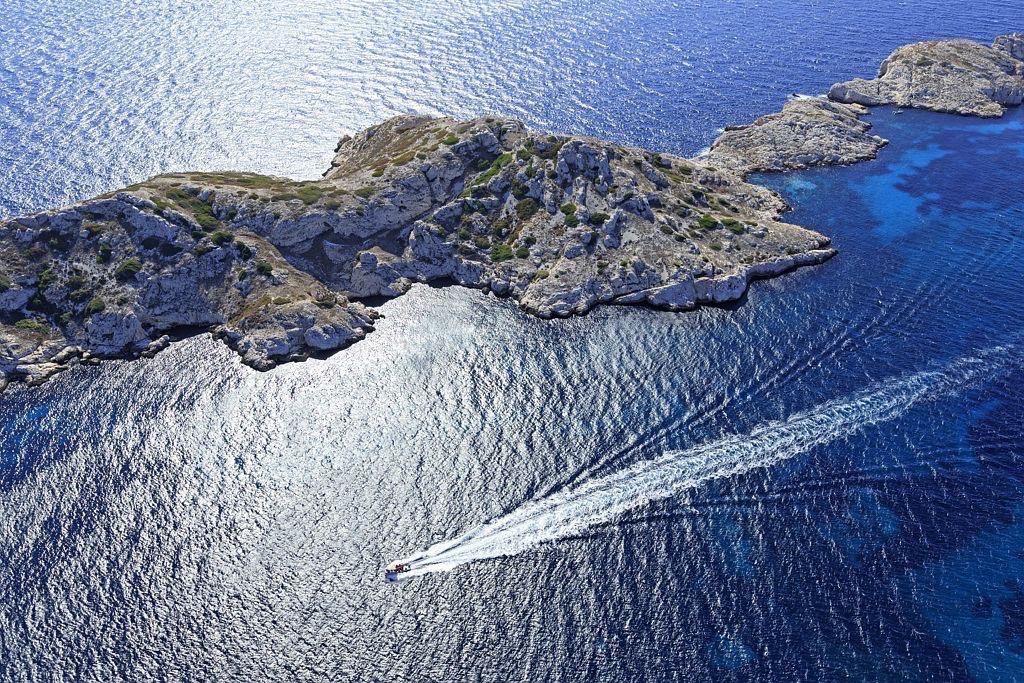 Parc national des Calanques, Marseille, Reserve Naturelle de l'Archipel de Riou, ile de Jarre et ile de Jarron