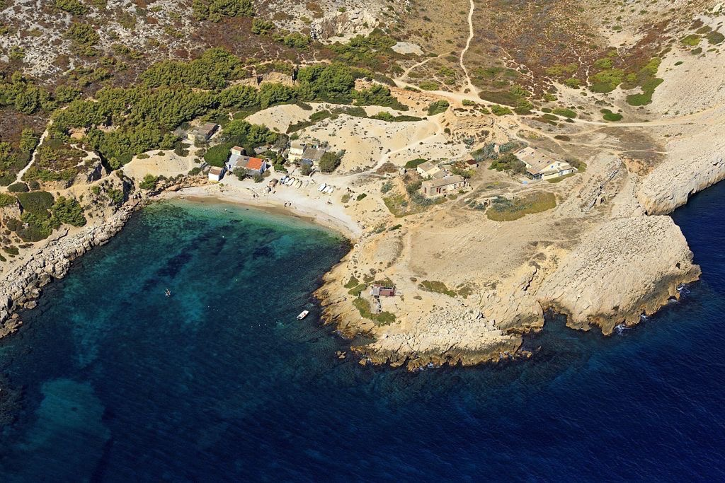 Parc national des Calanques, Marseille, 9e arrondissement, calanque de Marseilleveyre