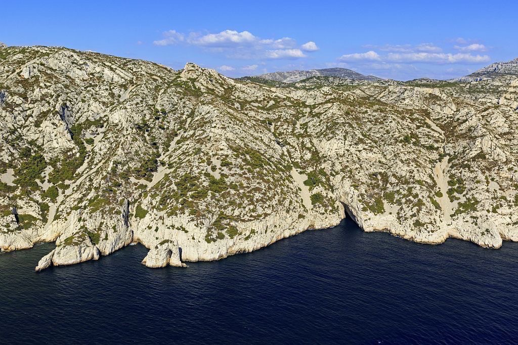 Parc national des Calanques, Marseille, 9e arrondissement, crete de Sormiou, Baou Troucas