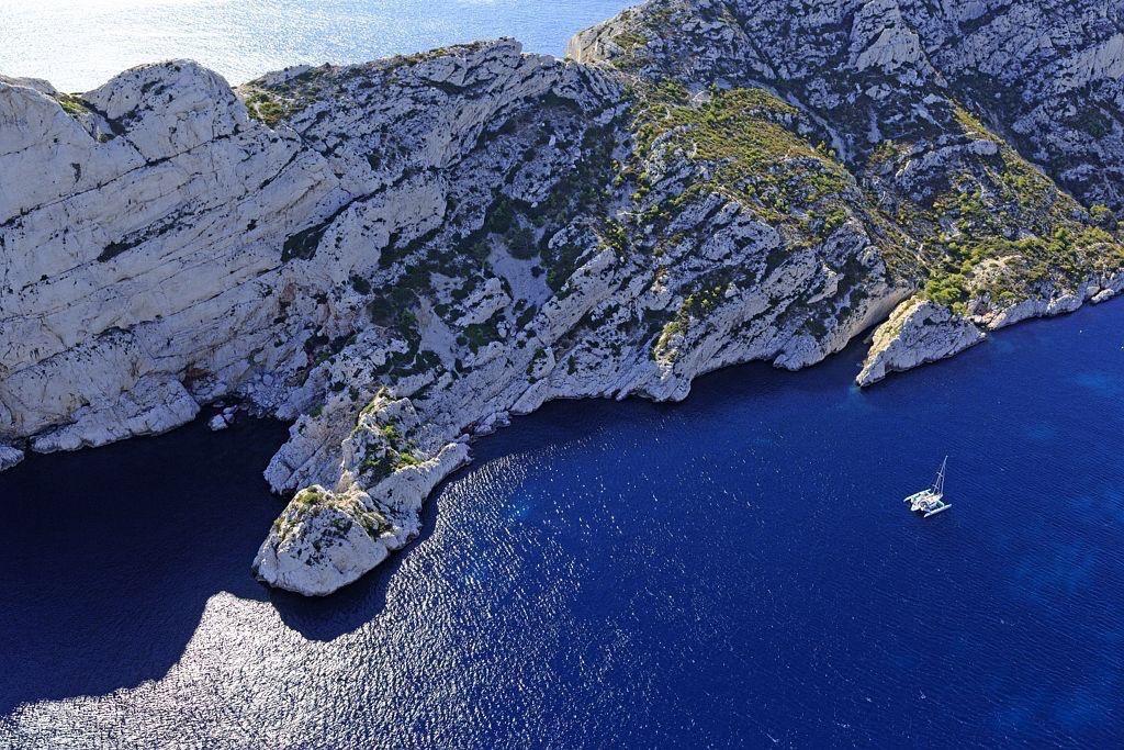 Parc national des Calanques, Marseille, 9e arrondissement, calanque de Sormiou, La Galere et Cap Redon