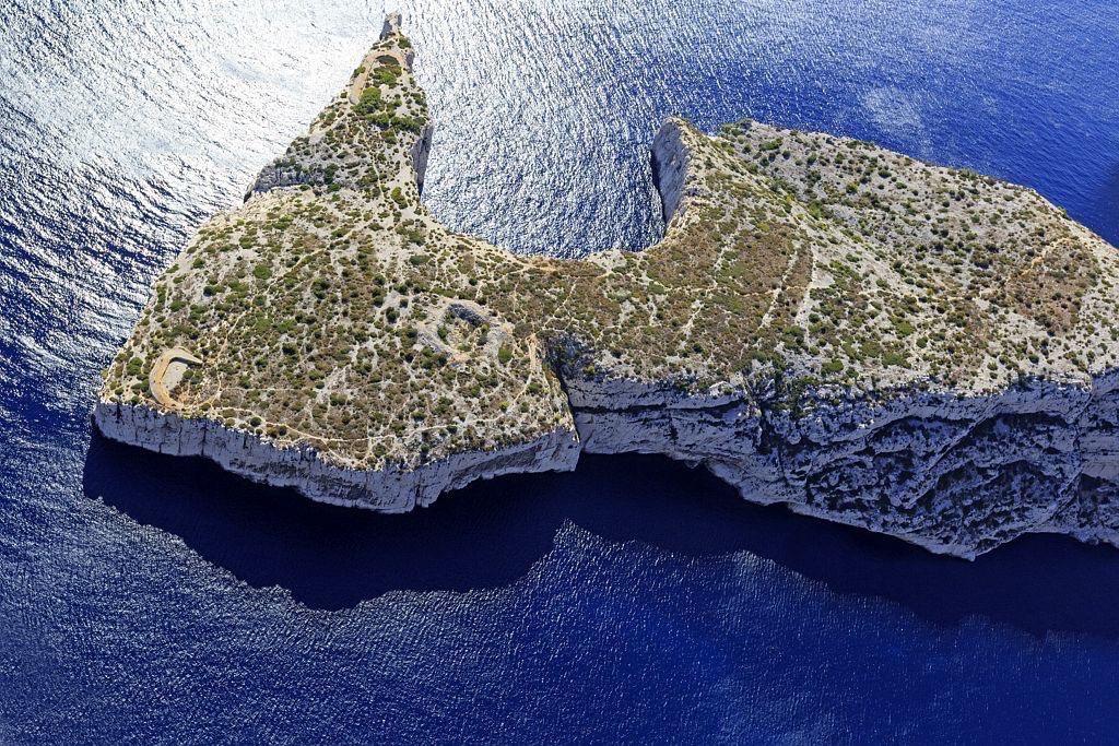Parc national des Calanques, Marseille, 9e arrondissement, Cap Morgiou, calanque de la Triperie