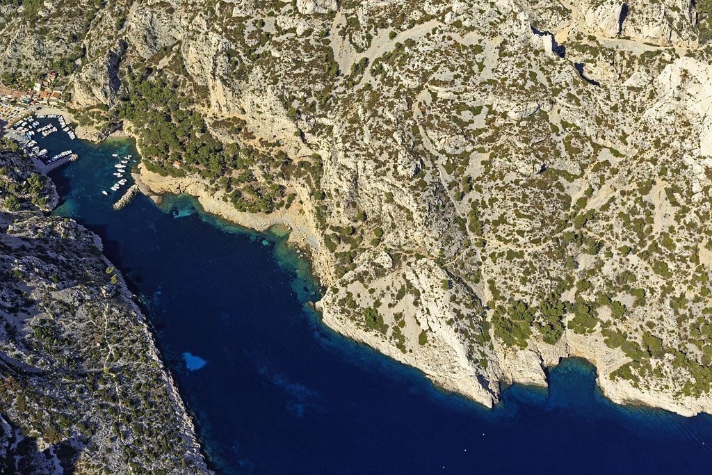 Parc national des Calanques, Marseille, 9e arrondissement, calanque de Morgiou