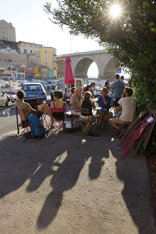 France, Bouches du Rhone (13), Marseille, 7e arrondissement, quartier d'Endoume, anse du Vallon des Auffes, restaurant Viaghji di Fonfon