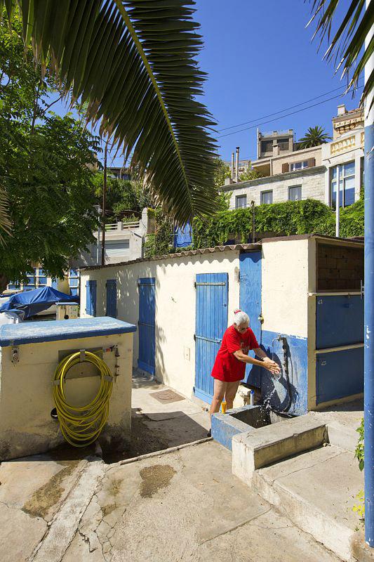 France, Bouches du Rhone (13), Marseille, 7e arrondissement, quartier d'Endoume, Corniche Kennedy, anse de La Fausse Monnaie, Societe Nautique Corniche