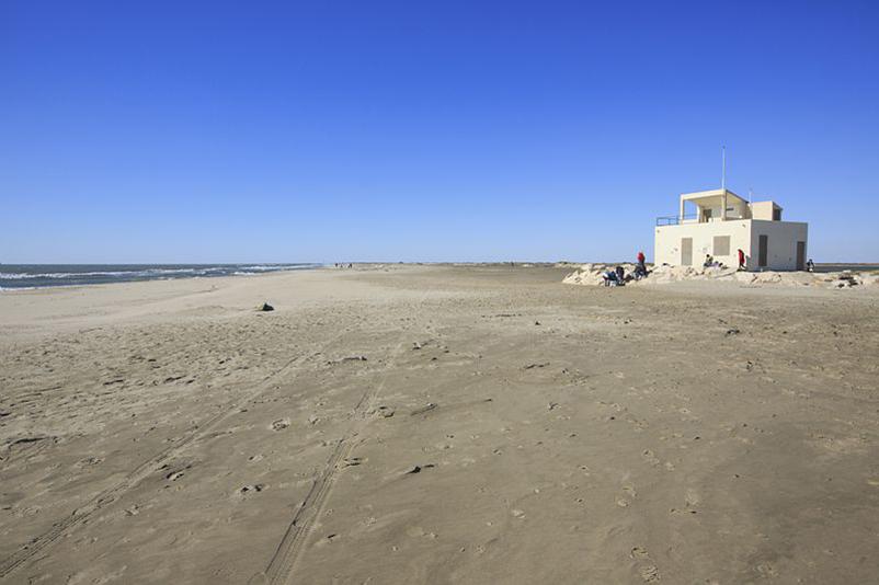 France, Bouches du Rhone (13), parc naturel regional de Camargue, Arles, Salin de Giraud, plage de Piemanson
