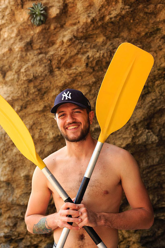France, Bouches du Rhone (13), La Ciotat, kayak