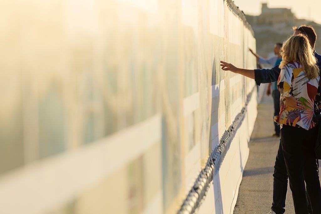 France, Bouches du Rhone (13), Marseille, 2e arrondissement, Zone Euromediterranee, quartier La Joliette, Promenade Robert Laffont, Esplanade J4, exposition 438 Notre Littoral