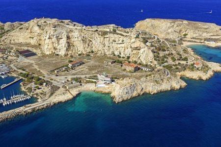 Parc national des Calanques, Marseille, 7e arrondissement, archipel des iles du Frioul, ile Ratonneau