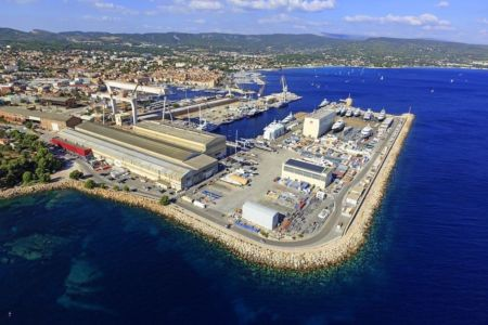 La Ciotat, chantiers de constructions navales (vue aerienne)