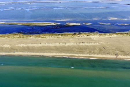 Parc Naturel Regional de Camargue, Arles, Salin de Giraud, plage de Piemanson, Baisse de Quenin