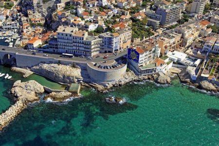 Marseille, 7e arrondissement, quartier d'Endoume, Corniche JF Kennedy, Anse de Malmousque
