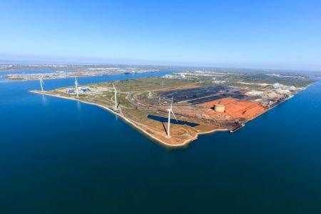 Golfe de Fos sur Mer, Grand Port Maritime de Marseille, Fos sur Mer, Zone Industrielle, parc eolien