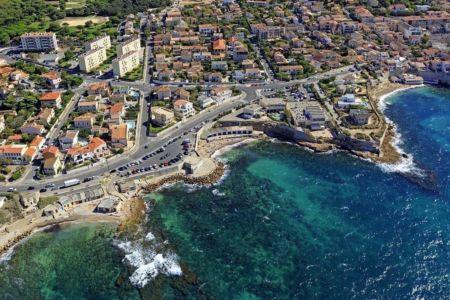Marseille, 8e arrondissement, quartier Montredon, Anse du Bain des Dames, Anse du Phoceen et Pointe de Montredon