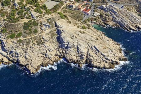 Parc national des Calanques, Marseille, 8e arrondissement, quartier Montredon, calanque de Samena