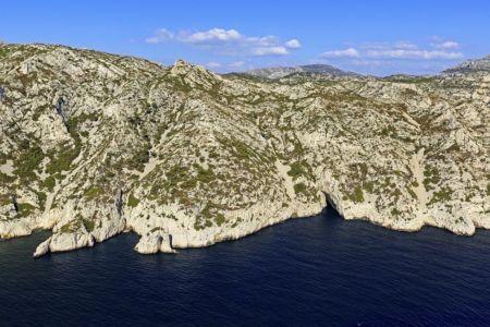 Parc national des Calanques, Marseille, 9e arrondissement, crete de Sormiou, Baou Troucas