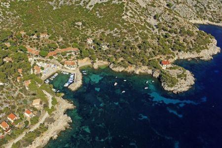 Parc national des Calanques, Marseille, 9e arrondissement, calanque de Sormiou, Pointe de La Buse