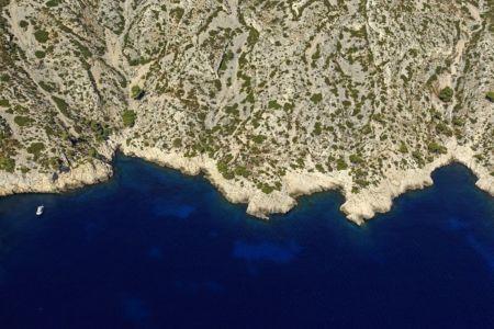 Parc national des Calanques, Marseille, 9e arrondissement, calanque de Sormiou, Baume de Lume