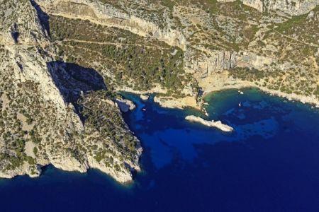 Parc national des Calanques, Marseille, 9e arrondissement, Cap Sugiton, calanque de Sugiton, le Torpilleur