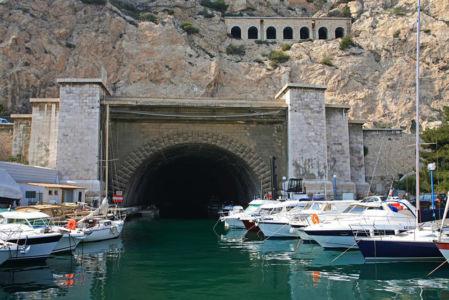 Tunnel du Rove allant de l'Estaque a l'etang de Berre, MarseilleBouches du Rhone (13) - France