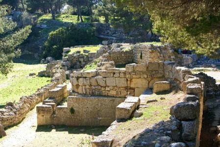 Site archeologique de Saint Blaise, classe monument historique en 1943, Saint-Mitre-les-remparts, Bouches-du-Rhone (13) - France