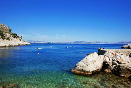 Rade de Marseille, Calanque de La Vesse, Cote Bleue, Le Rove, Bouches du Rhone (13), France