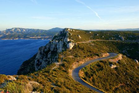 France, Bouches du Rhone (13), Parc national des Calanques, Cassis, Cap Canaille, la route des Cretes, falaises Soubeyranes