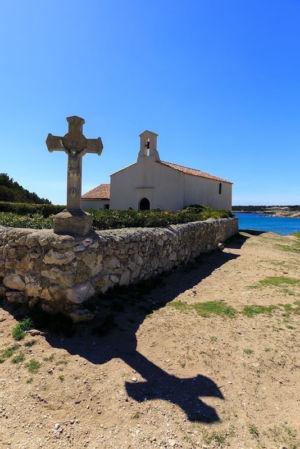 France, Bouches du Rhone (13), Cote Bleue, Martigues, quartier de Sainte Croix, Chapelle de Sainte Croix