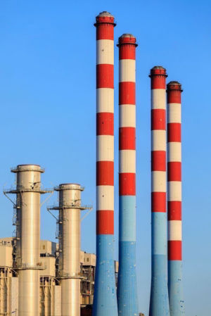 France, Bouches du Rhone (13), Cote Bleue, Martigues, Anse des Laurons, Centrale Thermique EDF