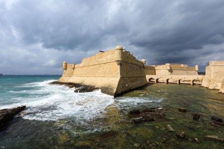 France, Bouches du Rhone (13), Cote Bleue, Martigues, Fort de Bouc (XIIe au XVIIe), fort Vauban