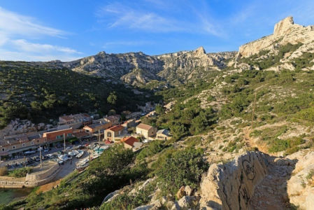 France, Bouches du Rhone (13), Parc national des Calanques, Marseille, 8e arrondissement, calanque de Callelongue