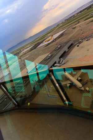 France, Bouches du Rhone (13), Marignane, aeroport Marseille Provence, tour de controle