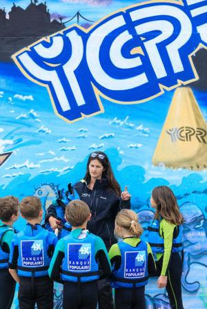 France, Bouches du Rhone (13), Marseille, 8e arrondissement, quartier de la Pointe Rouge, port de la Pointe Rouge, club nautique, Yachting Club Pointe Rouge