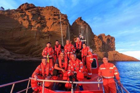 France, Bouches du Rhone (13), La Ciotat, les sauveteurs en mer SNSM, excercice de sauvetage